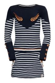 TopItm Dress Rosy - Jersey navy/stripe