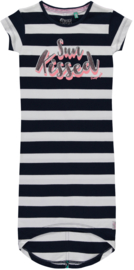 Quapi dress Simone 'Navy block stripe'