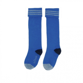 LoveStation22 Swirly Socks - Plain Blue