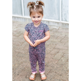 Quapi Baby Girls Jumpsuit Bess - Light Pink Leopard
