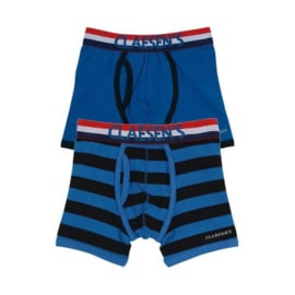 CLAESEN'S BOYS 2-PACK BOXER-COBALT NAVY STRIPES
