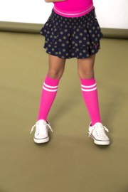 B.Nosy B.Neon Socks with 2 horizon Stripes - Pink Glo