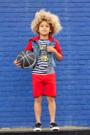 Quapi boys shirt Aaron - Dark Blue Stripe