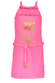 Kidz-Art sleeveless dress, neon pink