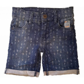 Quapi jog denim shorts Silvan 'Denim Text'