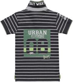 Quapi boys polo shirt Sander 'Grey stripe'