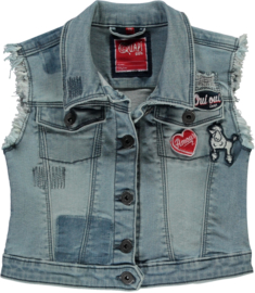 Quapi denim gilet Sonja 'Light Denim'