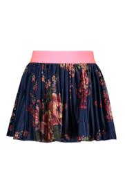B.Nosy printed velours plissé skirt