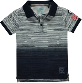 Quapi boys Polo Sascha 'Navy Stripe'