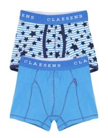Claesen's Boys 2-Pack Boxer 'Stars Cobalt'