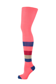 Kidz-Art Tights Block Stripe - Neon Diva Pink