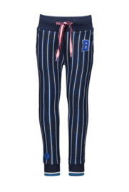 B.Nosy girls pants with rib - Stripe Ink Blue