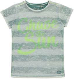 Quapi boys shirt Savino 'Arctic Green Stripe'