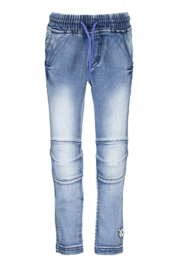 B.Nosy Boys Denim Pant With Elastic Waist - Middle Denim