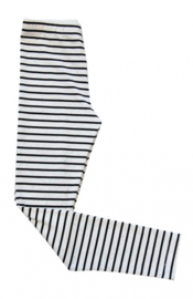 TopItm Legging Barby Stripe Black/White