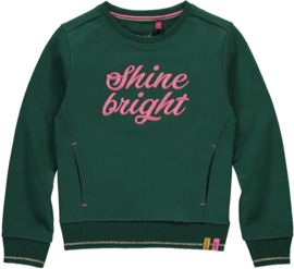 QAUPI SWEATER TIESKE - BOTTLE GREEN