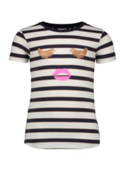 B.Nosy Shirt with Lace Backside - Oxford Stripe