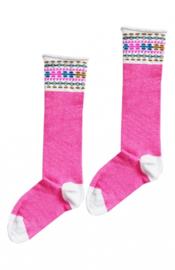 TopItm Socks Bianca Neon Pink
