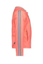 B.Nosy Coated Cardigan With Zipper - Peach Glo
