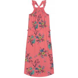 Quapi Girls Midi Dress Adjara - Coral Bird