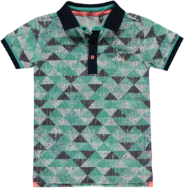 Quapi polo Sherman 'Ocean Green Triangle'