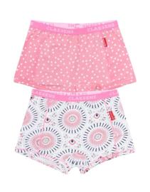 Claesen's Girls 2-Pack Boxer - Circle Dots