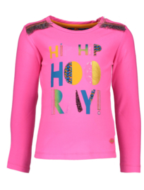 Kidz-Art T-Shirt HIP HIP HOORAY - Neon Fuchsia