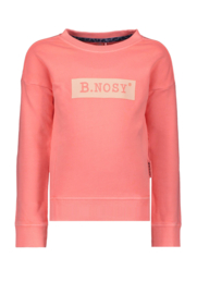 B.Nosy Girls Garment Sweater With Logo Artwork - Peach Glo