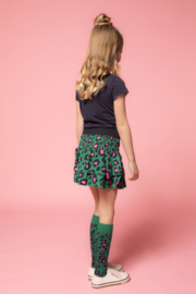 B.Nosy Woven Leopard Skirt with 2 layers - Jade Leopard