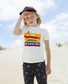 Moodstreet Boys t-shirt chestprint - Warm White