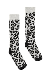 Quapi Socks April - Dark Grey Leopard