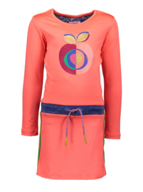 Kidz-Art Dress plain APPLE with rib waist and fancy tapes