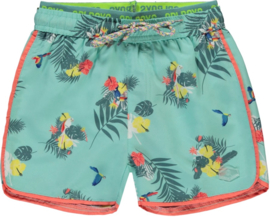 Quapi boys Swim shorts SEV 'Soft Mint Botanic'