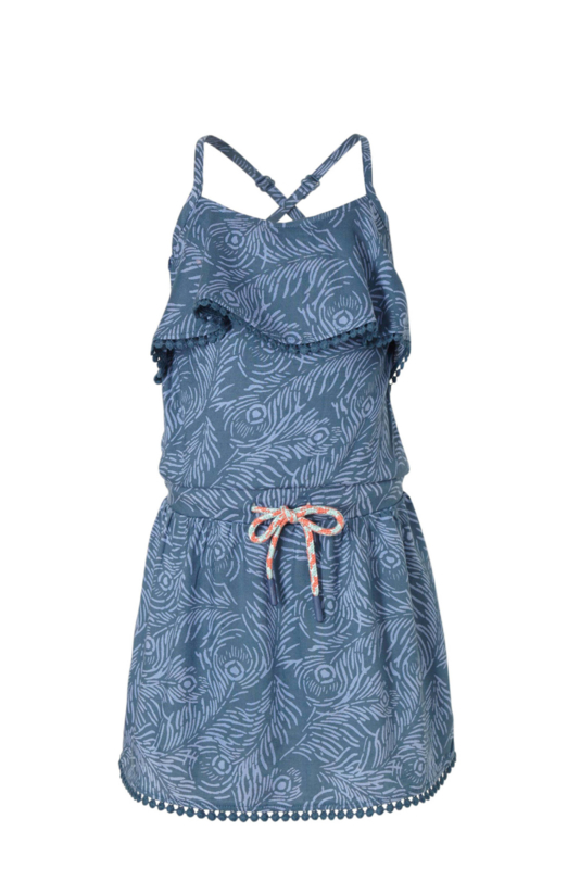 Quapi Girls Dress Acaira - Dark Blue Feather