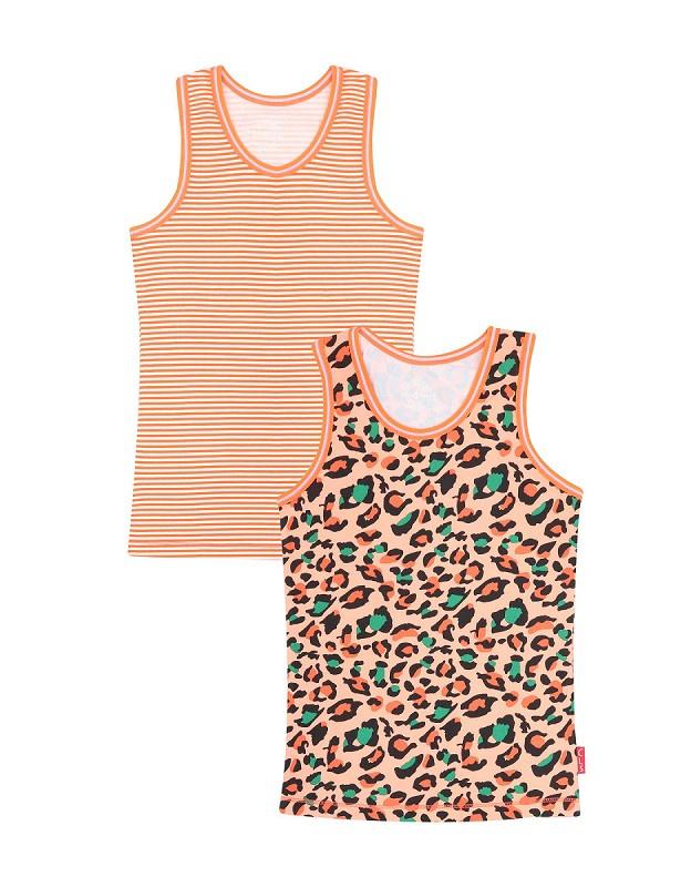 Claesen's Girls  2-Pack Singlet - Panther Stripes