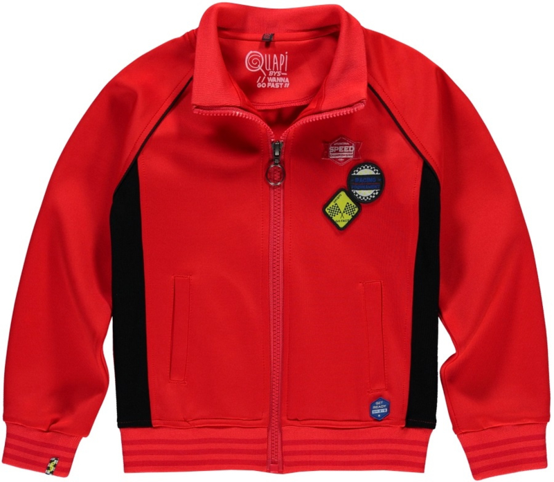 Quapi boys cardigan Thomas - Race Red