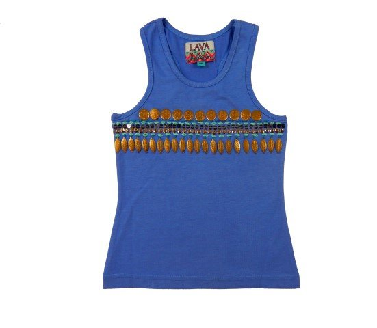 Lavalava Embroidered Top India 'Lavender'