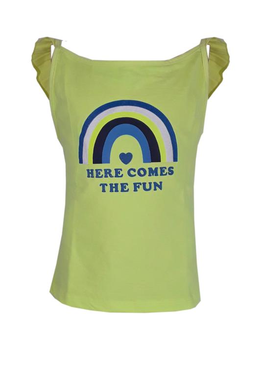 TopItm Top Lonneke - Jersey Lime