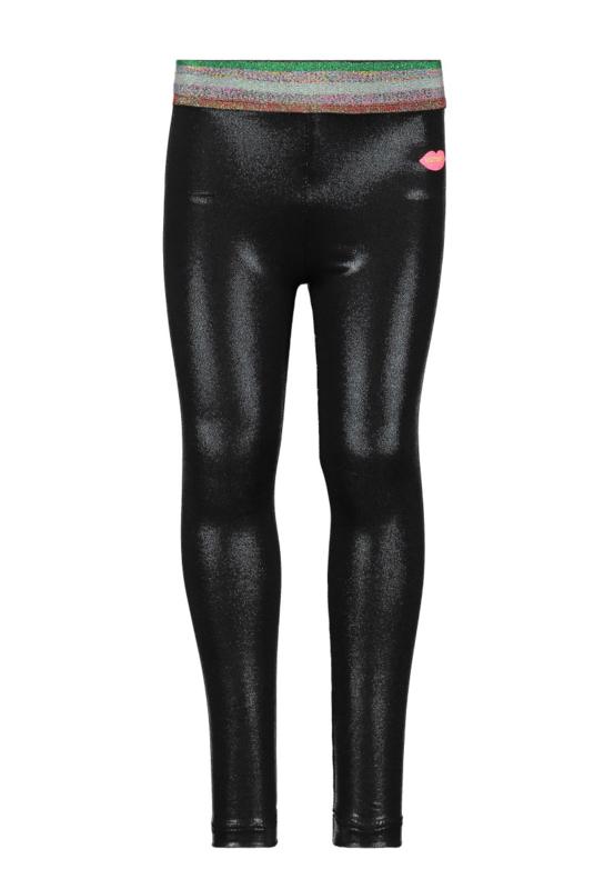 Kidz-Art Fancy Coated Legging + Stripe Elastic Waist
