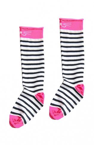 TopItm Bianca Socks Pink/Black