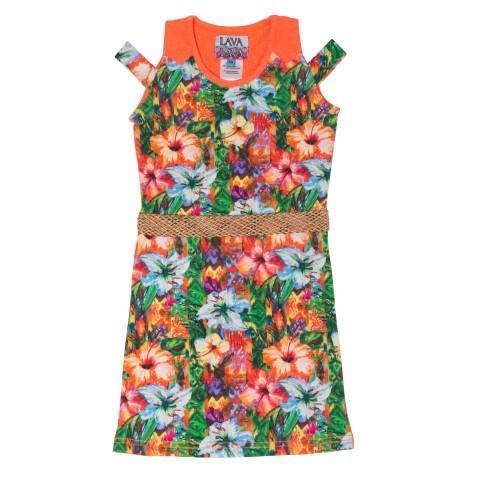 Lavalava Dress Haiti 'Hibiscus Print'