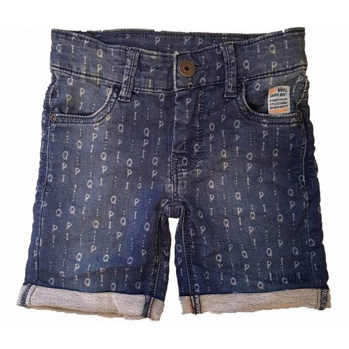 Quapi jog denim shorts Silvan 'Denim Text'