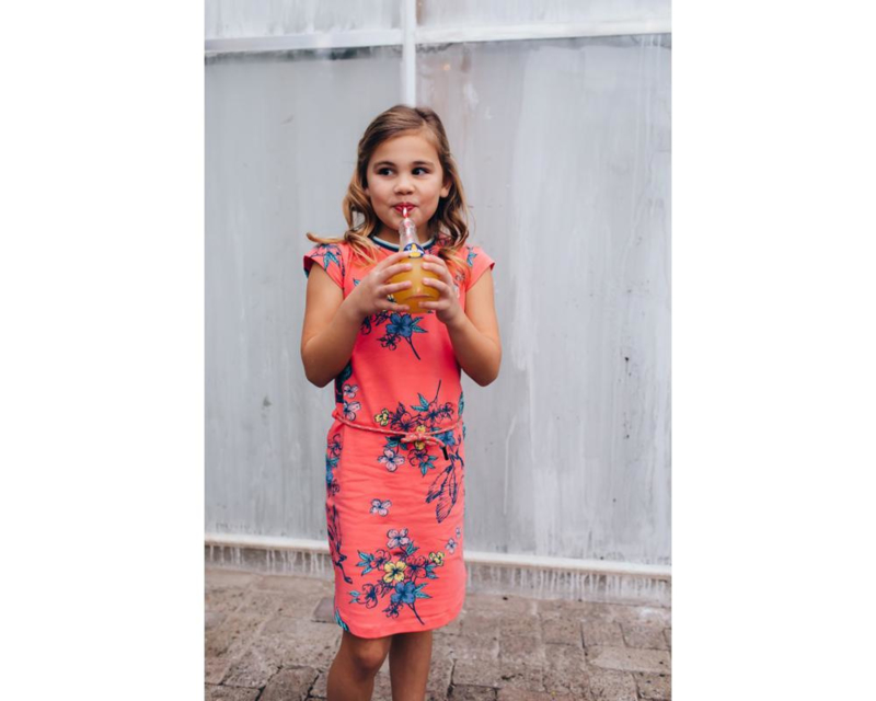 Quapi Dress Aafje - Coral Bird