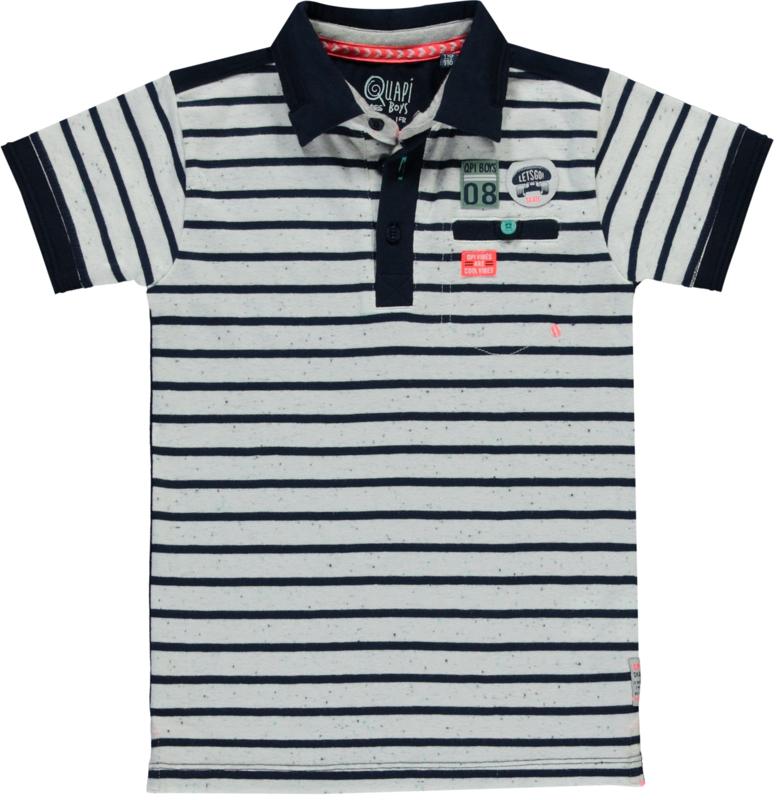 Quapi polo Shane 'Navy stripe'