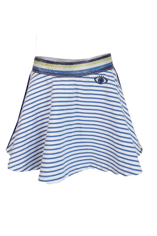 TopItm Skirt Holly - Stripe Sea Blue
