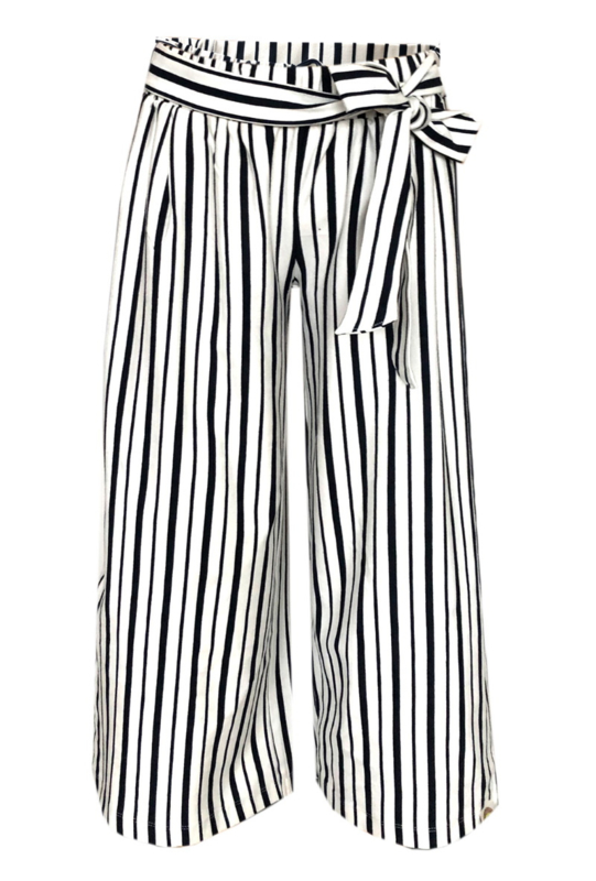 TopItm Pant Laila - Stripe Viscose Blue