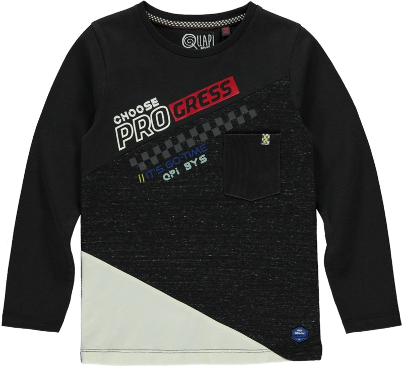 Quapi boys longsleeve Tad - Tires Grey