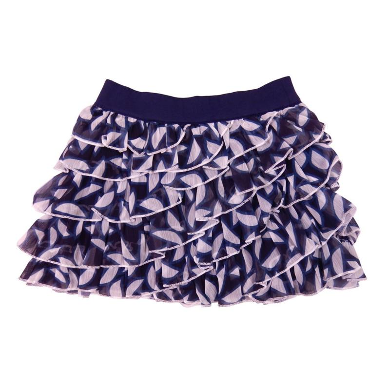 LoFff Ruffle skirt - Chiffons blue