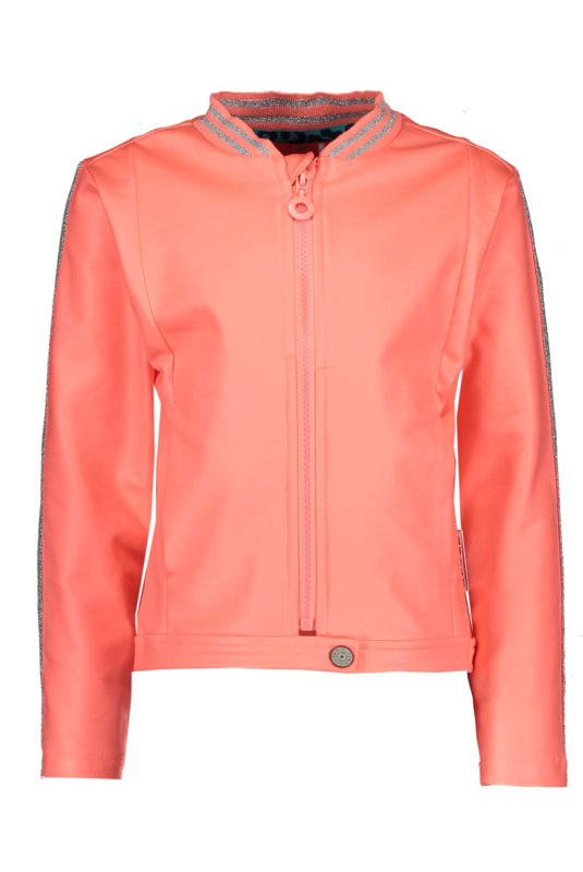 B.Nosy Coated Cardigan With Zipper - Peach Glo