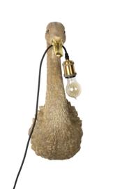 Zwaan lamp goud